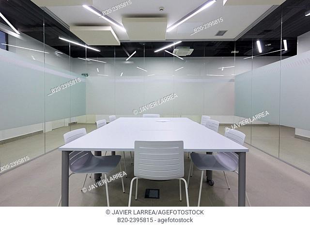 Meeting room. Building eco-intelligent architecture with zero emissions. Enertic Building. Martutene. Donostia San Sebastian. Gipuzkoa. Basque Country