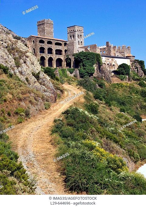 Sant Pere de Rodes monastery. Port de la Selva. Girona province. Catalunya. Spain