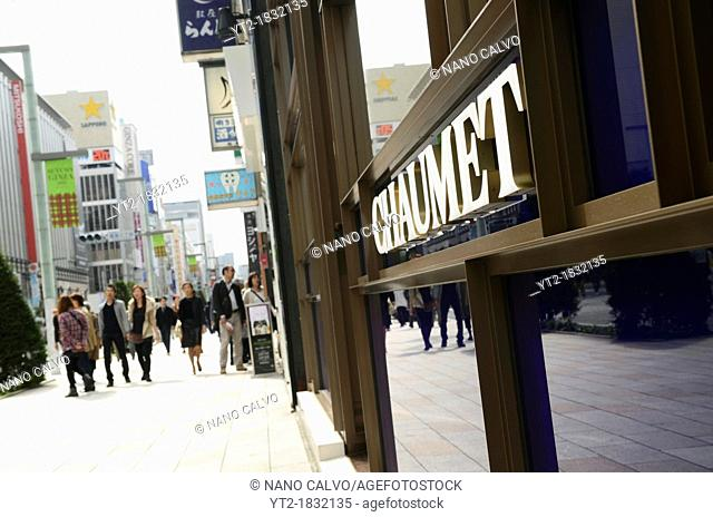 Shopping in Ginza Street, Tokyo