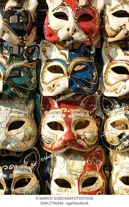 Small masks to the magical Carnival of Venice, Italy