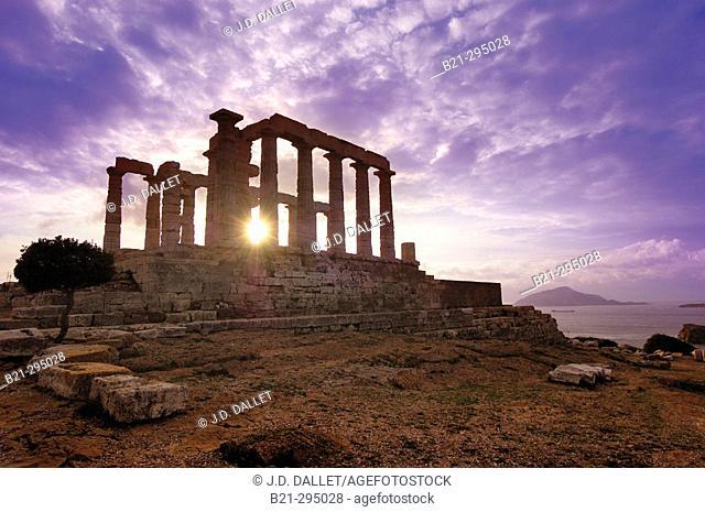 Temple of Poseidon. Sounion. Greece