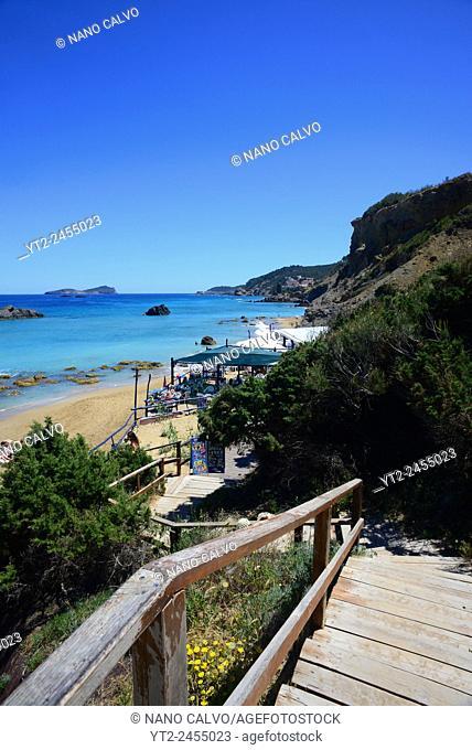 Aguas Blancas Beach at Es Figueral, Santa Eulalia del Río, Ibiza