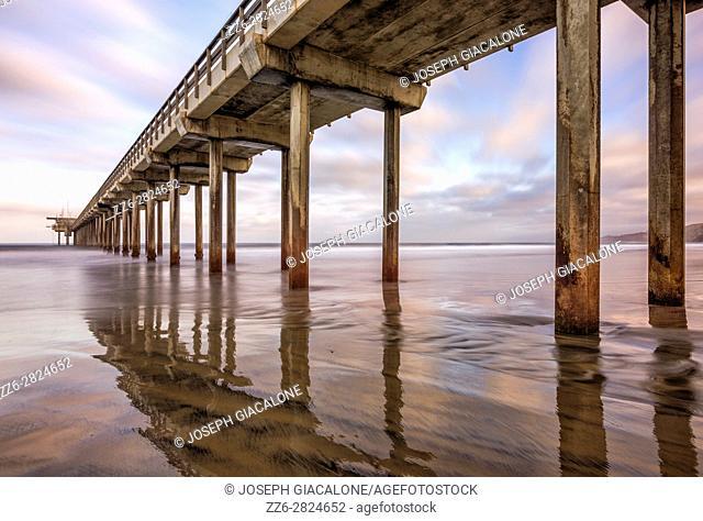 Scripps Pier, coastal scene. La Jolla, California