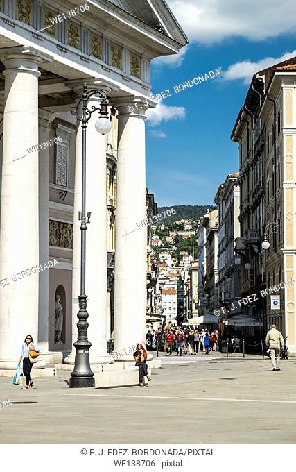 Sant' Antonio Nuovo, Trieste centre. Italy, Europe