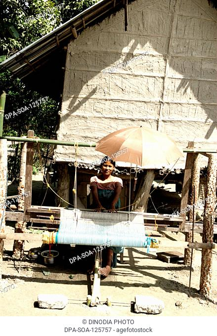 Handicraft ; woman working in workshop ; NGO Action North-east Trust (ANT) ; Bongaigaon ; Assam ; India
