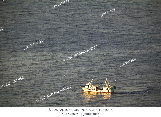 Trawler, Costa del Sol. Málaga province, Andalusia, Spain