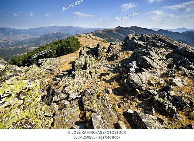 Sierra de la Puebla fron the Tiesa hill Madrid Spain