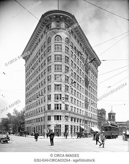 Knights of Pythias Building, Indianapolis, Indiana, USA, Detroit Publishing Company, 1910