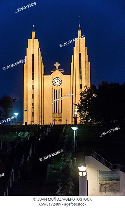 Church of Akureyri. Northern Region. Iceland. Europe
