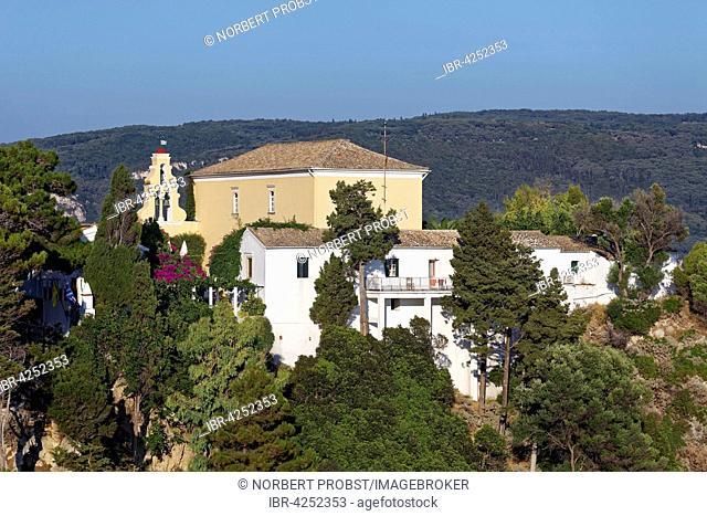 Monastery of Panagia Theotokos tis Paleokastritsas or Panagia Theotokos, Paleokastritsa, Corfu, Ionian Islands, Greece