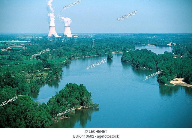 Power plant in the Loir-et-Cher departement of France
