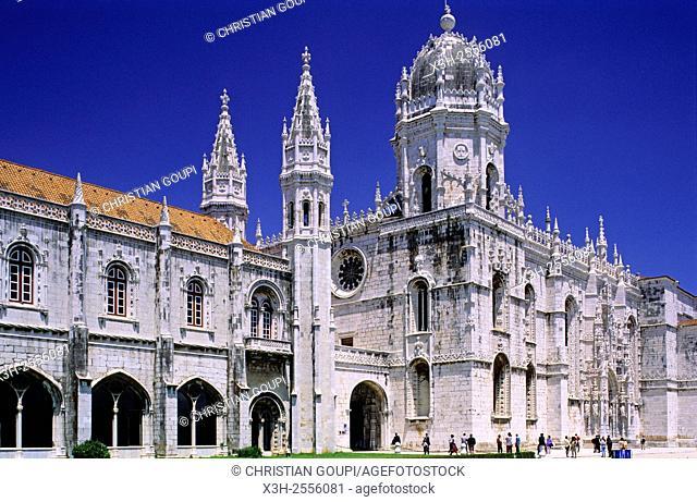 Hieronymites Monastery Jeronimos, portuguese, Lisbon, Portugal, Southern Europe
