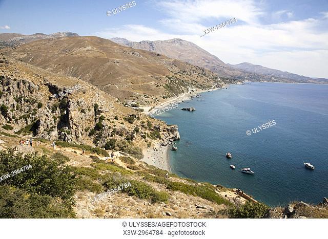 Preveli beach, Crete island, Greece, Europe