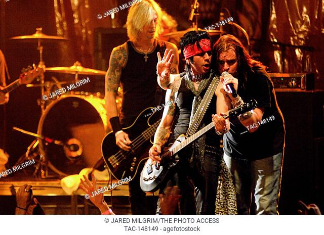 Duff McKagan, Michael Thomas, Colby Veil onstage at the 20 year anniversary of Guns N' Roses 'Appetite for Destruction' with Adler's Appetite and LA Guns at the...