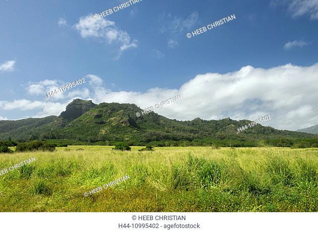 USA, Vereinigte Staaten, Amerika, South Pacific, Hawaii, Kauai, Sleeping giant in Kapaa