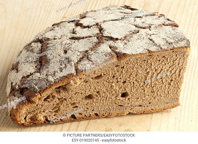 Piece of healthy traditional German Sourdough bread