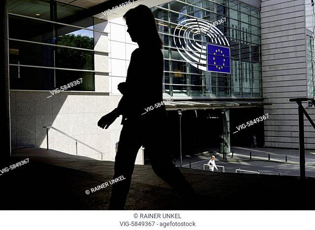 BEL , BELGIUM : EU parliament in Brussels , 23.08.2017 - Brussels, Brussels, Belgium, 23/08/2017