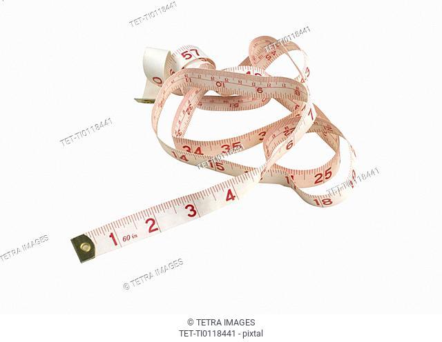 Still life of tape measure