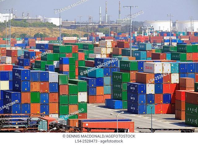Shipping Port of Los Angeles San Pedro California US