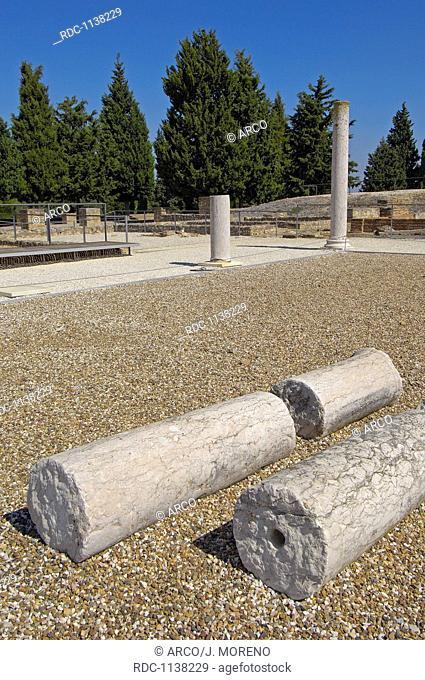 Santiponce, Italica, Romain ruins of Italica, Sevilla, Andalusia, Spain, Europe