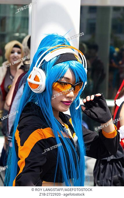 Scene from the Anime and Cosplay Convention in Vancouver, Canada