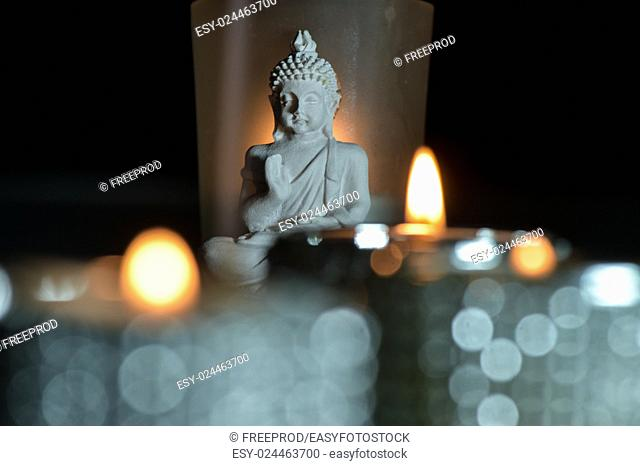 Candles Flame and Boudha Religion Studio shoot