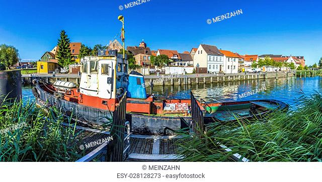 old fishing ship at the harbor in Wolgast