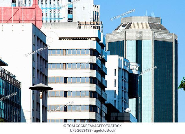 Buildings in Samora Machel Avenue, CBD, Harare, Zimbabwe