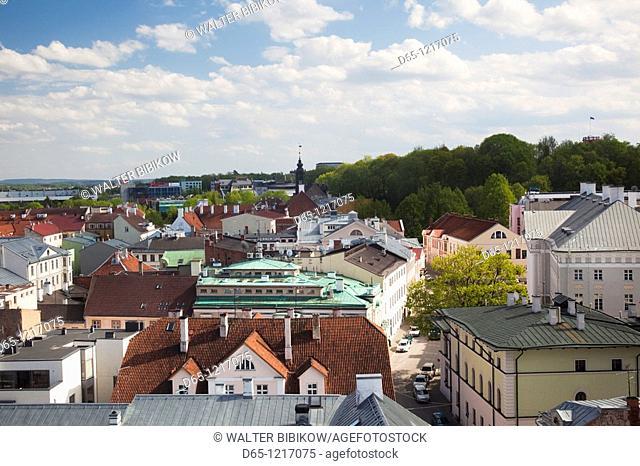 Estonia, Southeastern Estonia, Tartu, elevated town view from St  John's Church