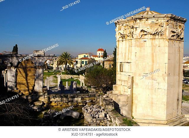 Roman Agora in old Athens Greece