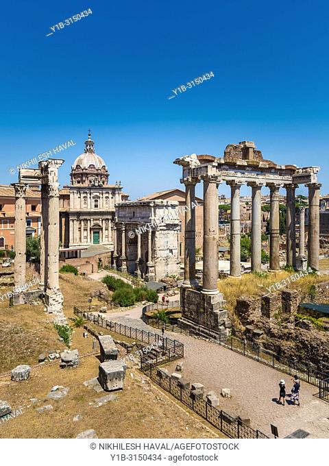 View of Roman Forum looking East, Rome, Italy