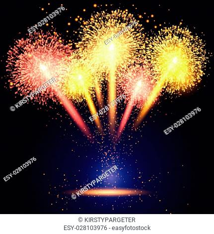 Colourful fireworks background