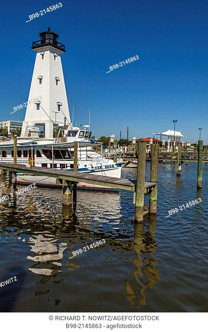 Gulfport Lighthouse rebuilt in 2013 after Huuricane Katrina