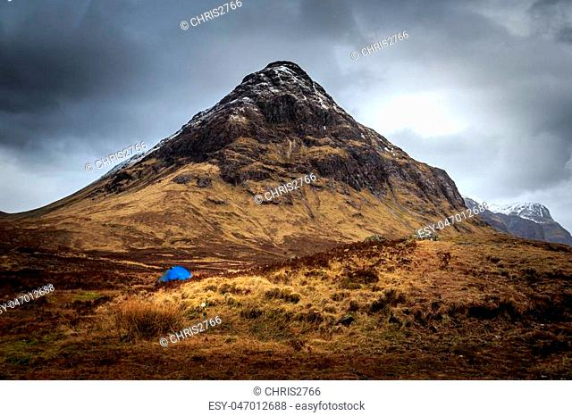 camping in Glencoe Scotland UK