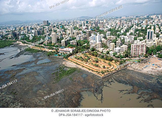 aerial view of joggers park bandra at mumbai maharashtra India