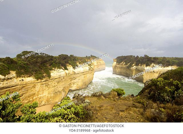 The Loch Ard Gorge, Port Campbell National Park, Great Ocean Road, Victoria, Australia.