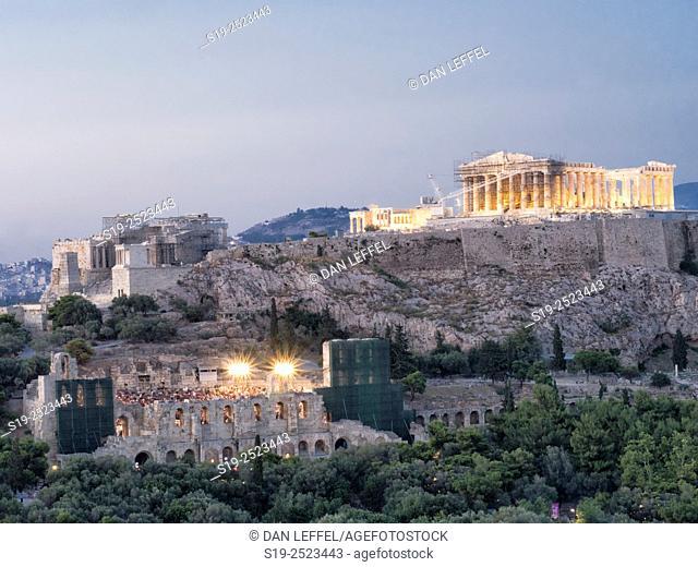Greece. Athens. Parthenon. Sunset