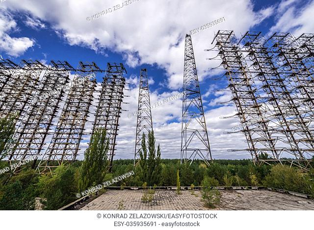 Duga radar system in Chernobyl-2 military base, Chernobyl Nuclear Power Plant Zone of Alienation in Ukraine