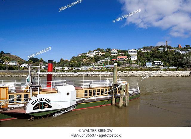 New Zealand, North Island, Wanganui, Waimarie, paddlewheel steamer on the Wanganui River