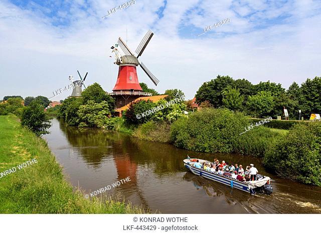 Windmills of Greetsiel, Lower Saxony, Germany, Europe