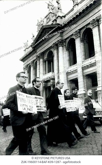 1980 - Several Roman Catholic priests in clerical garb marched to St. Peter's Sq. to protest a scheduled meeting between Pope Paul VI and South Vietnamese Pres