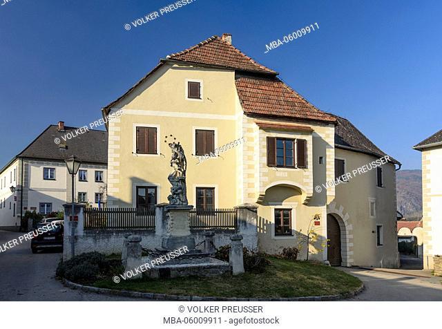 House of the market judge in Rossatz, Austria, Lower Austria, Wachau, Rossatz-Arnsdorf