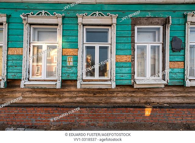 Old residential house. Kremlin of Kolomna, Moscow region, Russia