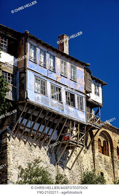 Residential or Living Quarters Dochiariou Monastery Mount Athos Greece