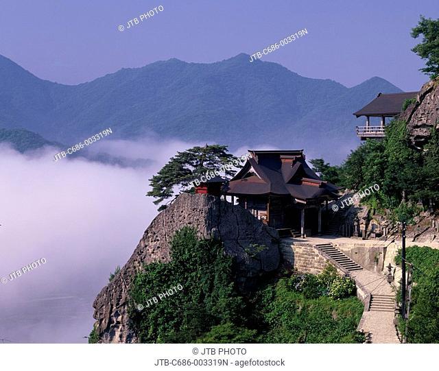 Yamadera, Risshakuji Temple, Yamagata, Mountain, Tree, Plant, Stairs, Temple, Japan