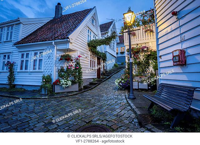 Stavanger city during the evening, Rogaland county, southern Norway