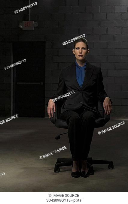 Businesswoman in chair