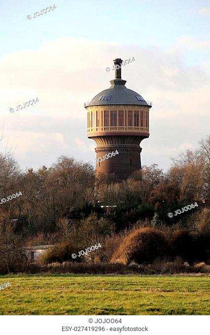 Old water tower on Magdeburg Buckau, Saxony-Anhalt, Germany