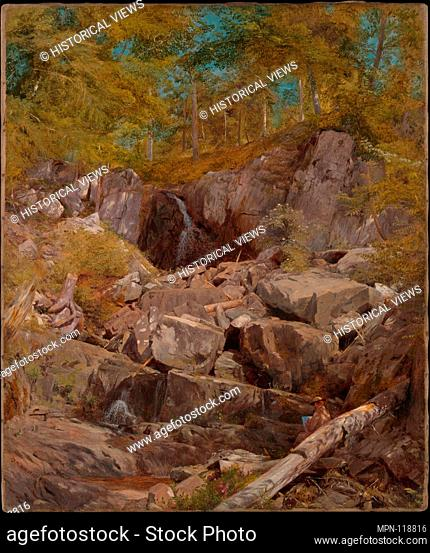 A Study of Trap Rock (Buttermilk Falls). Artist: John Henry Hill (American, West Nyack, New York 1839-1922); Date: 1863; Medium: Oil on canvas; Dimensions: 20 x...