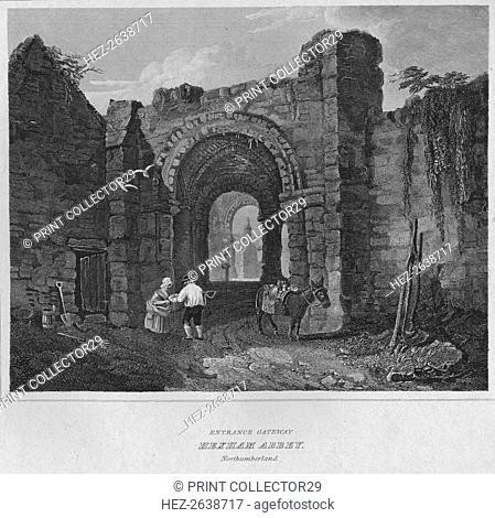 'Entrance Gateway - Hexham Abbey, Northumberland', 1814. Artist: John Greig